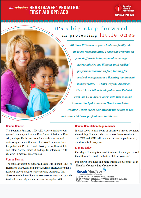 2015 Heartsaver Pediatric CPR Course Flyer